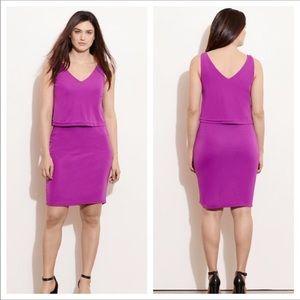 NWT Lauren Ralph Lauren   Purple Sleeveless Dress